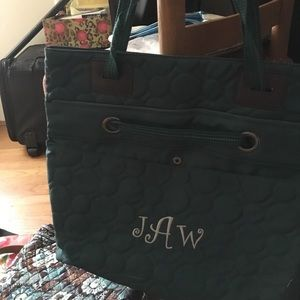 Bag with initials JAW embroidered